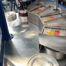 Warmnietmaschine - Schweißung / Welding
