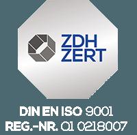 Seal Certificate DIN EN ISO 9001