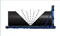 Großrohr Bandsäge Schnittbereich -45° - +45°